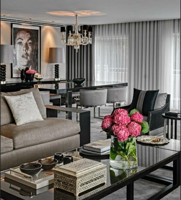 wohnzimmer wohnraeume einrichtung wohnzimmer gestaltung dekoration - groses wohnzimmer einrichten