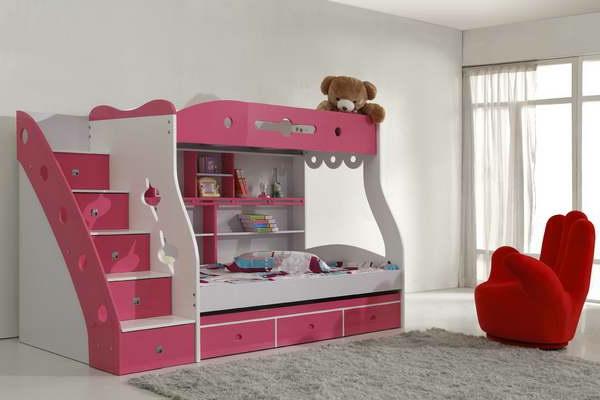 Kinderzimmer Mädchen Hochbett   Sweetwall - Wunschmotive Für ...