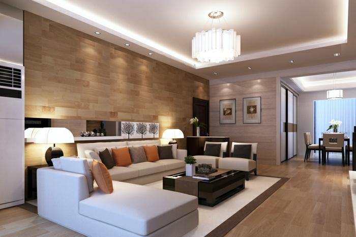 Wandverkleidung aus Holz - 95 fantastische Design Ideen - Archzinenet - wandgestaltung wohnzimmer beispiele