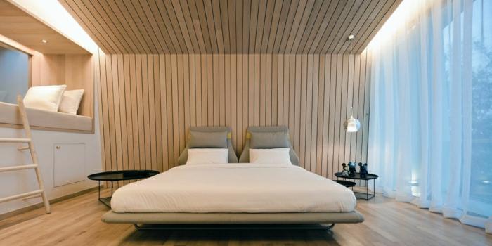 Wandverkleidung aus Holz - 95 fantastische Design Ideen - Archzinenet - schlafzimmer einrichten holz