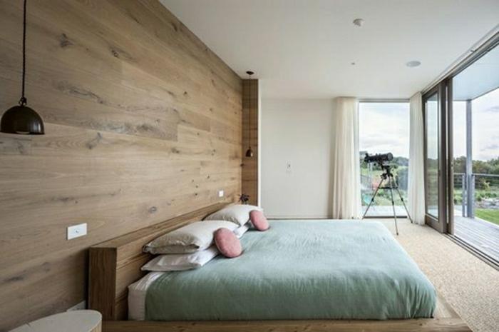 Stunning Wandverkleidung Modern Schlafzimmer Ideas - House Design - schlafzimmer einrichten holz