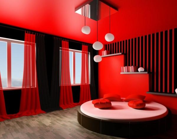 Beautiful Rote Wand 50 Ideen Mit Wandfarbe Rot Archzinenet
