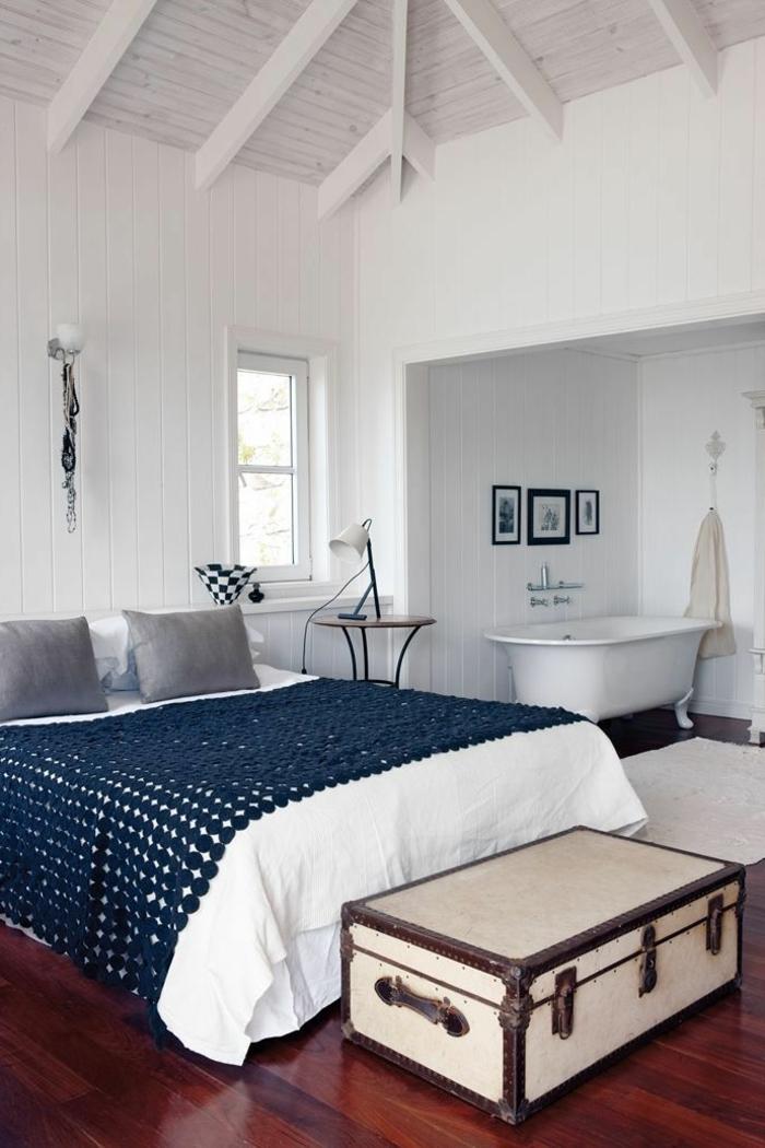 Badewanne unter Dachschräge 22 süße Modelle! - Archzinenet - dekoration farbe fur dachschragen