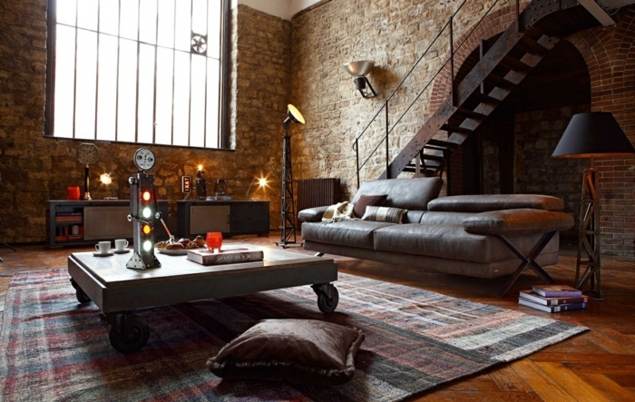 Schlafzimmer Industrial Style | Led Beleuchtung