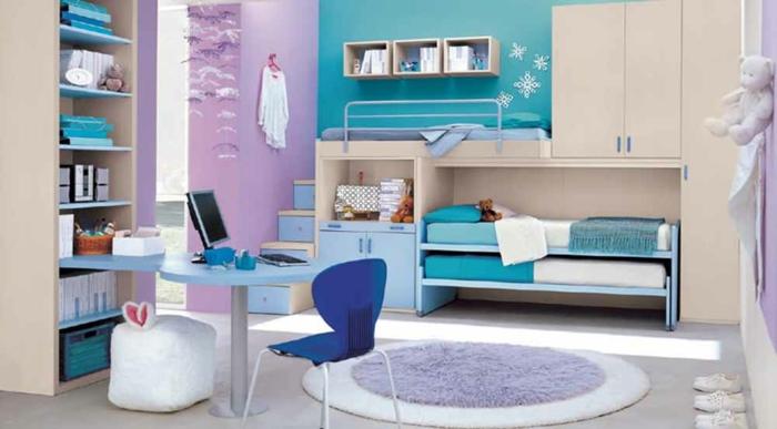 Süße Modelle von Jugendzimmer für Mädchen - Archzinenet - kinderzimmer blau mdchen