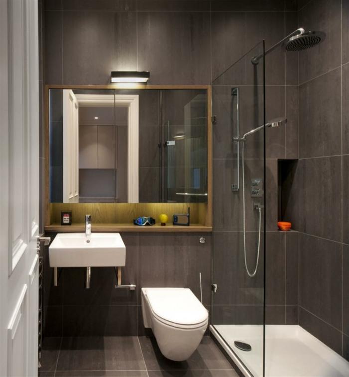30 ideen f r kleine b der kleine b der mit badewanne und dusche ... - Bad Gestalten Braun