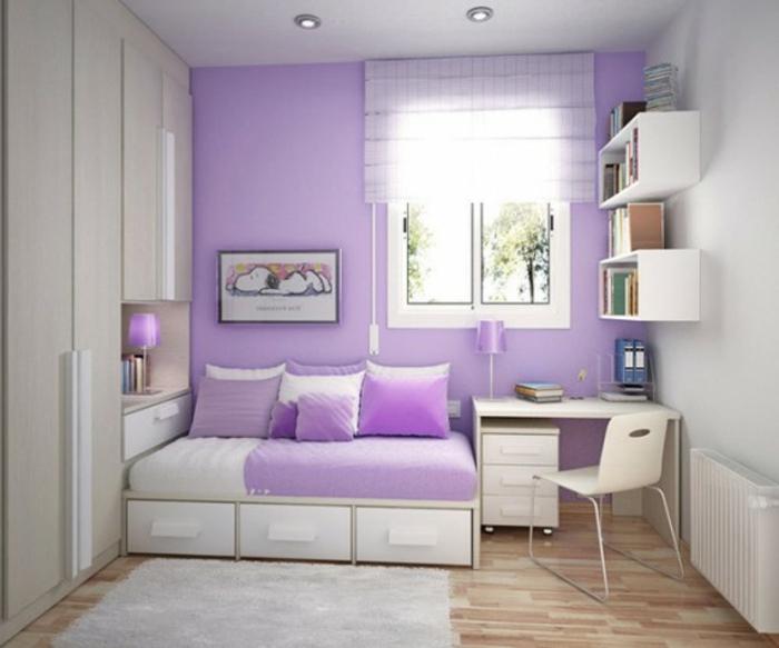 Moderne Zimmerfarben Ideen in 150 unikalen Fotos! - Archzinenet - beispiele wandfarbe lila wohnzimmer