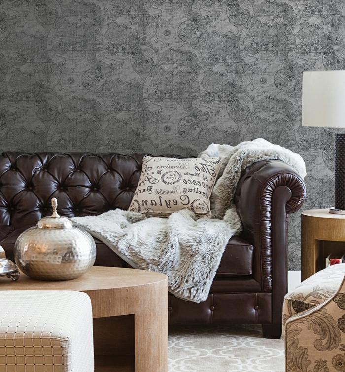 Vintage Tapeten Modern Interieur u2013 Moderniseinfo - kuschelige sofas corbeille sofa edra