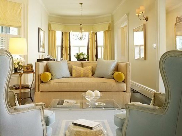 115 schöne Ideen für Wohnzimmer in Beige! - Archzinenet - wohnzimmer beige blau