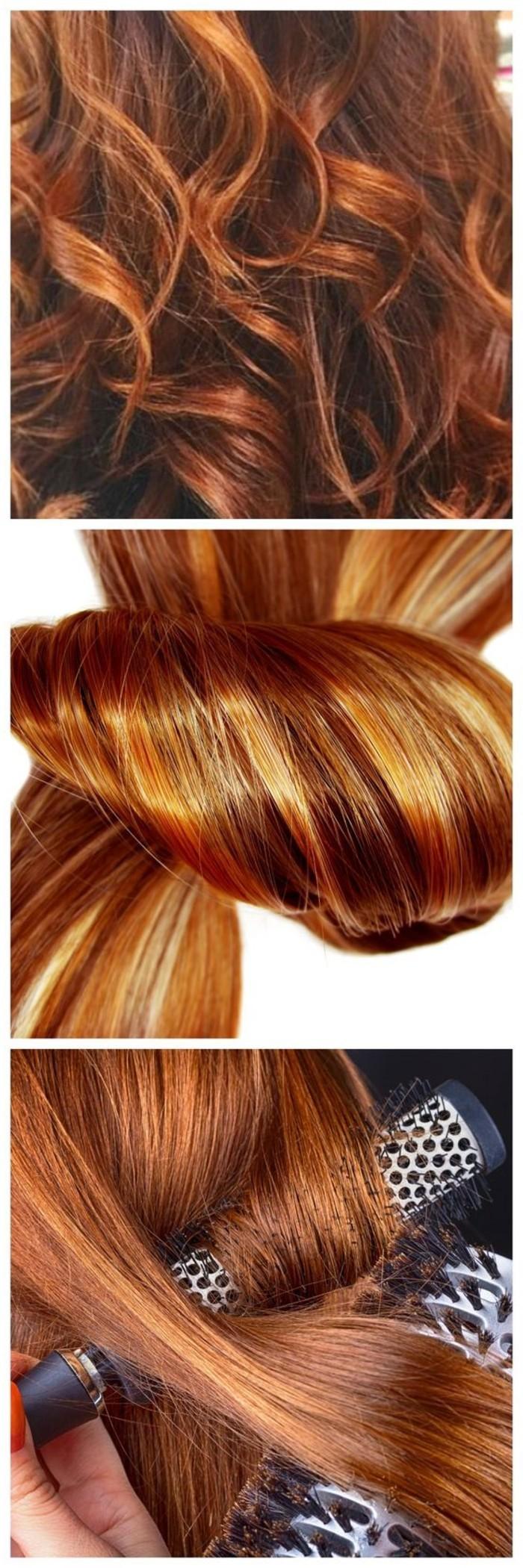 Strähnen Blond Braun Kupfer Welche Haarfarbe Passt Zu Mir Wir