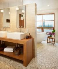 Waschtisch aus Holz fr mehr Gemtlichkeit im Bad ...