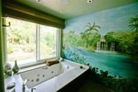 Wandtattoo Badezimmer fr gemtliches Ambiente - Archzine.net