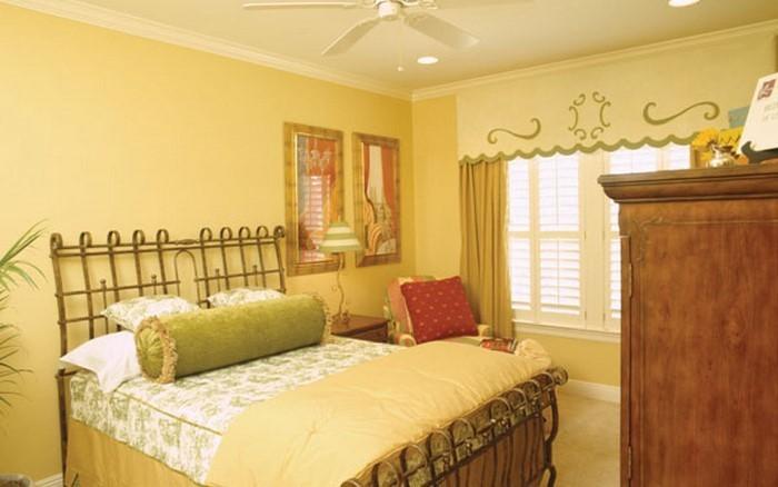 Schlafzimmer farblich gestalten 69 Wohnideen mit der Farbe Gelb! - schlafzimmer gestalten wandfarbe