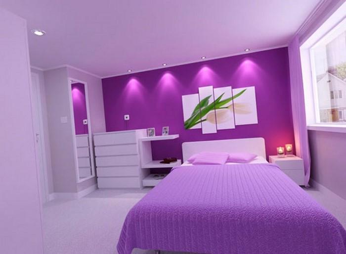 Das Schlafzimmer lila gestalten 67 einmalige Wohnideen! - schlafzimmer gestalten wandfarbe