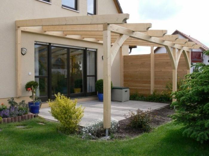 überdachung Terrasse Holz Glas | Privatkunden - Sonnenschutz Außen