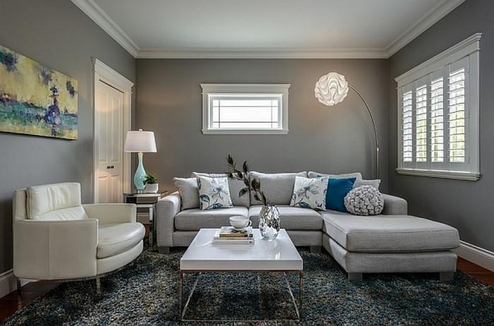 Wohnzimmer grau einrichten und dekorieren - dekoration wohnzimmer bilder