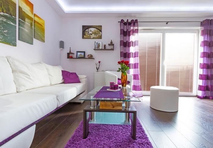 Wohnzimmer lila gestalten 79 tolle Deko Ideen - dekoration wohnzimmer bilder