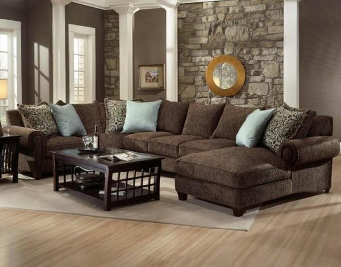 Ein Wohnzimmer in braun wirkt einladend und wohnlich - wohnzimmer in braun