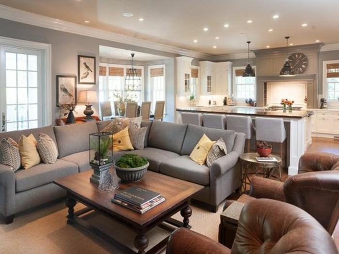 Ein Wohnzimmer in braun wirkt einladend und wohnlich - wohnzimmer in braun gestalten