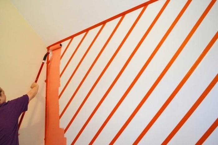 Wande gestalten mit farbe streifen wohndesign - Wande mit farbe gestalten ...