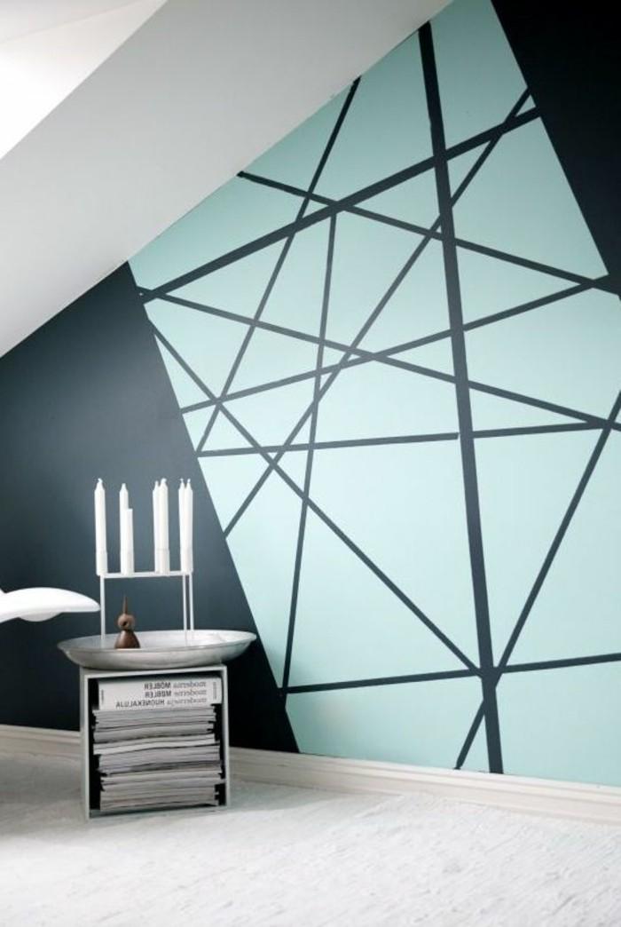 Geometrische Formen - tolle Wandgestaltung mit Farbe - Archzinenet - wandgestaltung