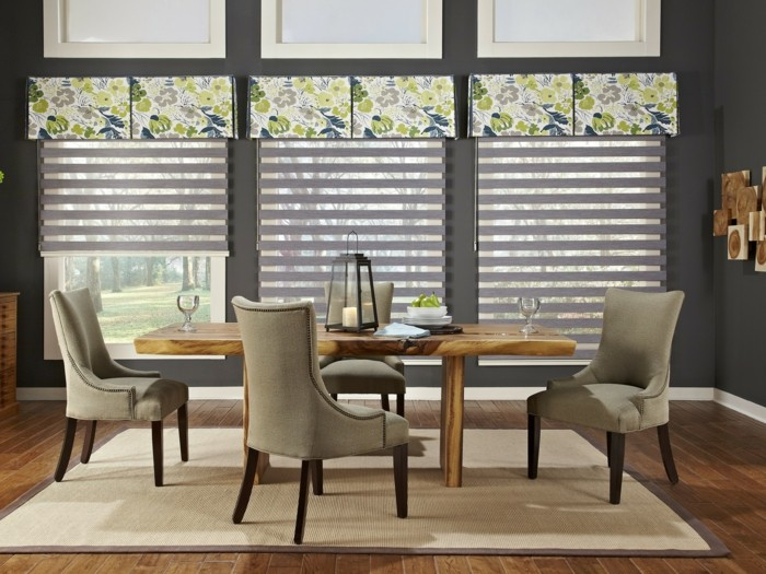 Moderne Fensterdeko Für Eine Vornehme Atmosphäre Im Raum   Esszimmer  Fenster Dekorieren