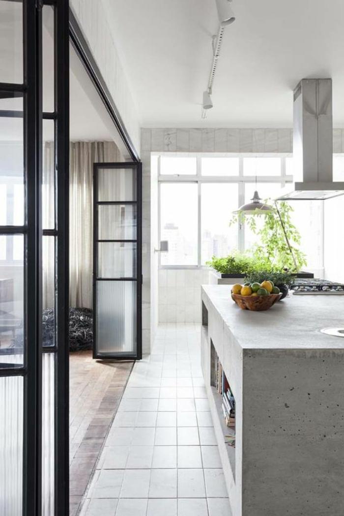 Moderne Offene Küche | Küchengardinen Modern ...