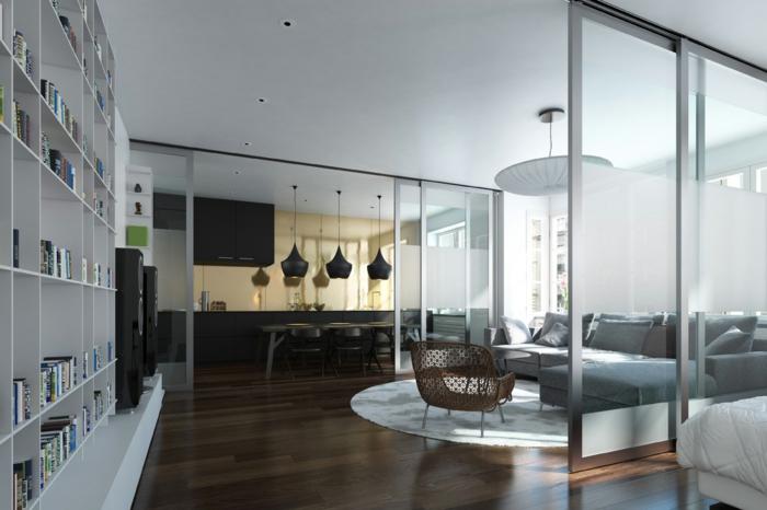 Schiebetur Kuche Wohnzimmer Design - Schiebetur wohnzimmer