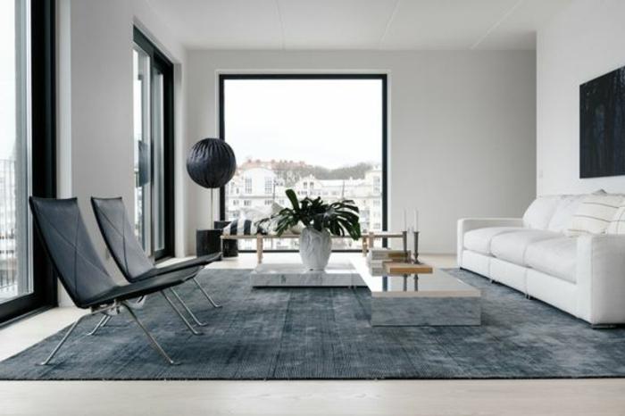 Bett mit minimalistisch grauem design bilder