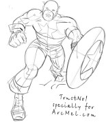 How To Draw Captain America Step By Step