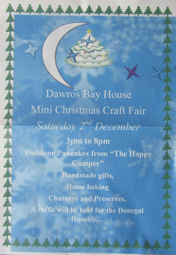 Dawros Bay House Mini Christmas Craft Fair, 2nd December 2017