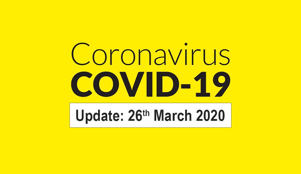 COVID-19 Update 26th March