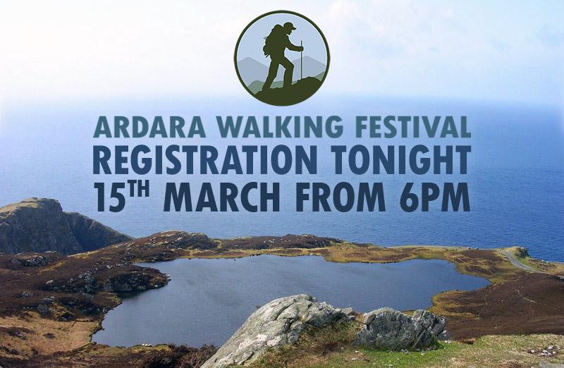 Walking Festival Registration This Evening