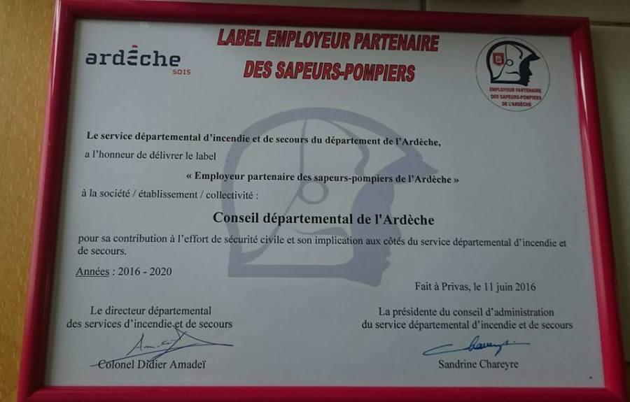 label employeurs sapeurs pompiers volontaires