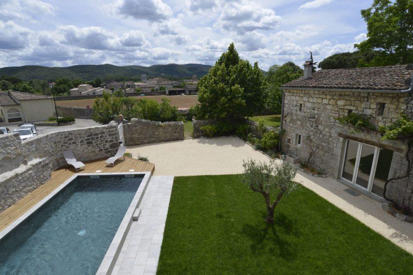 Gite de Charme Piscine Saint-Alban-Auriolles * Mas Elise D - Residence Vacances Ardeche Avec Piscine