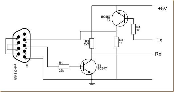 schematic rs232 usb converter
