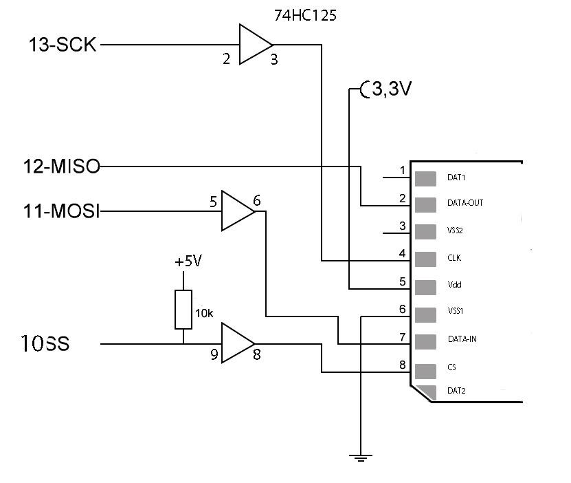 arduino sd card wiring