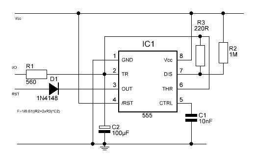 watchdog timer circuit circuit schematic diagram