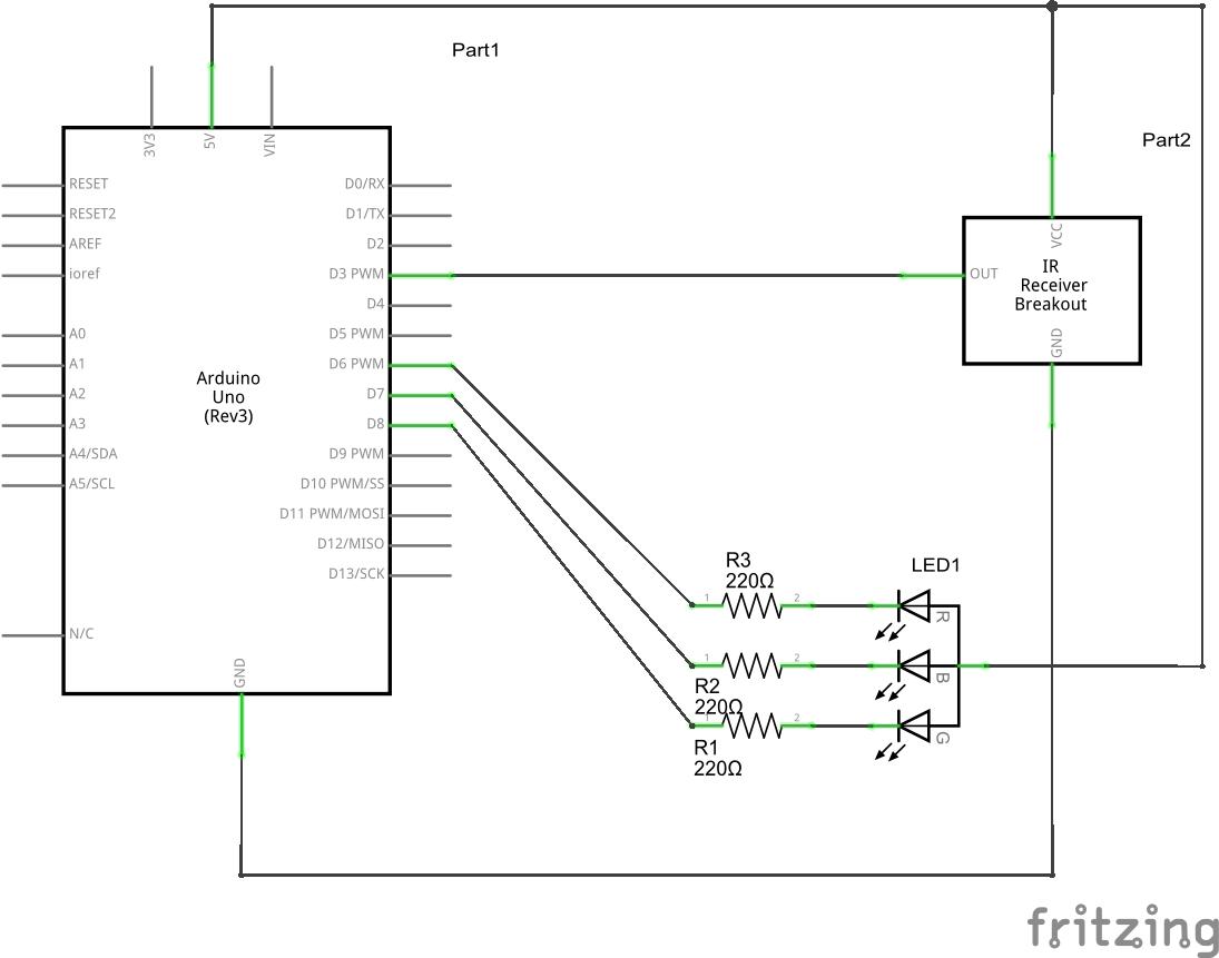 schematics rgb led control common anode