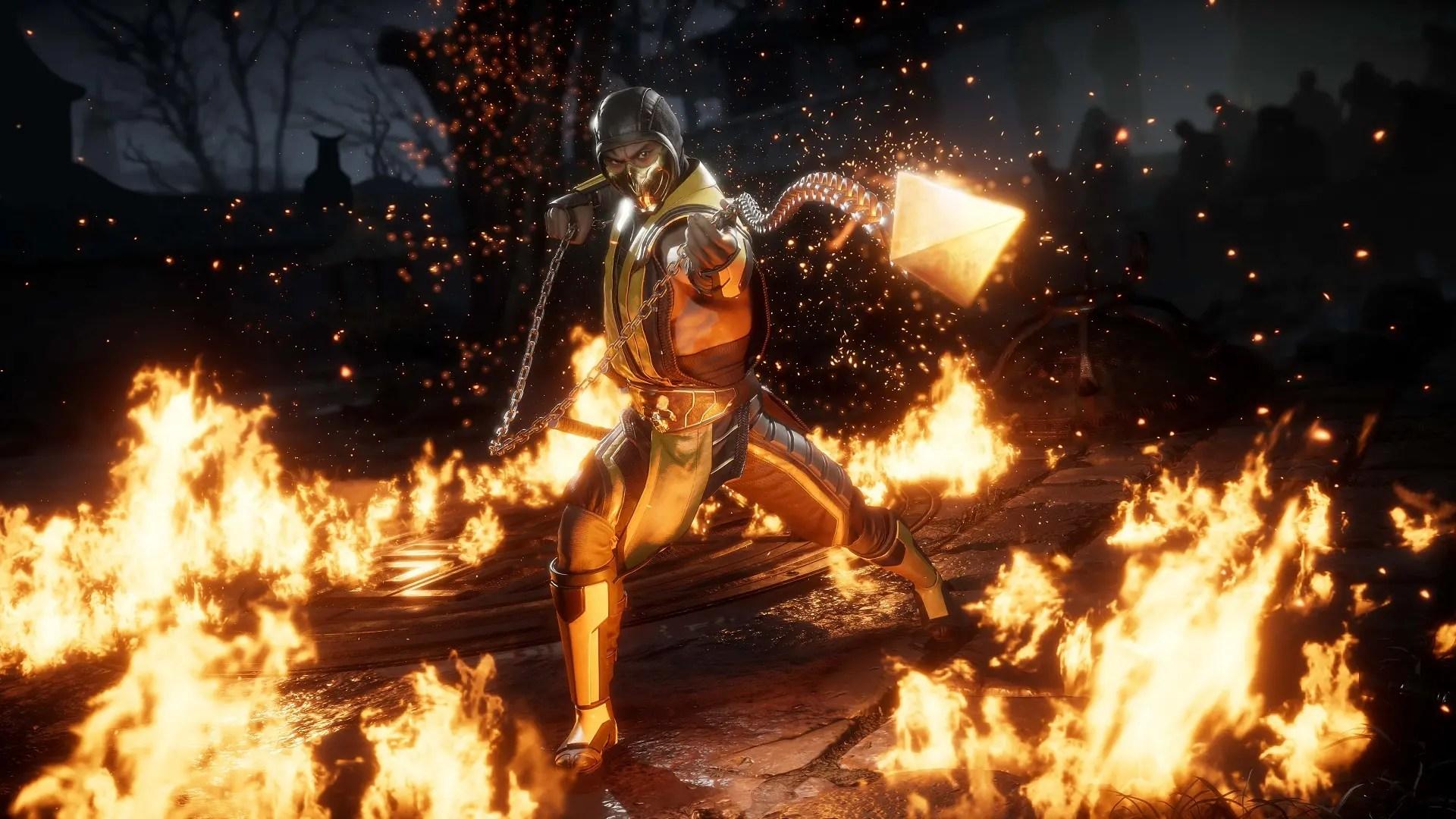 Scorpion Mortal Kombat Hd Wallpaper Mortal Kombat 11 Contar 225 Con Editor De Personajes Y