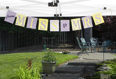Bridal shower banner