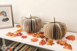 fall paper pumpkins