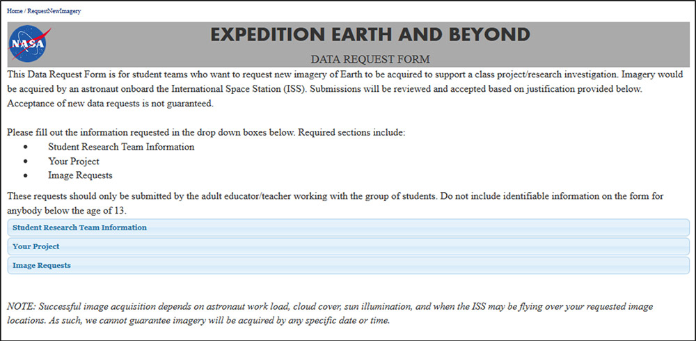 ARES Expedition Earth and Beyond Program Curricular Materials