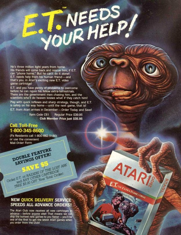 ET game for the Atari 2600