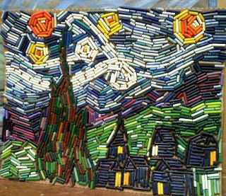 crayon mosaic