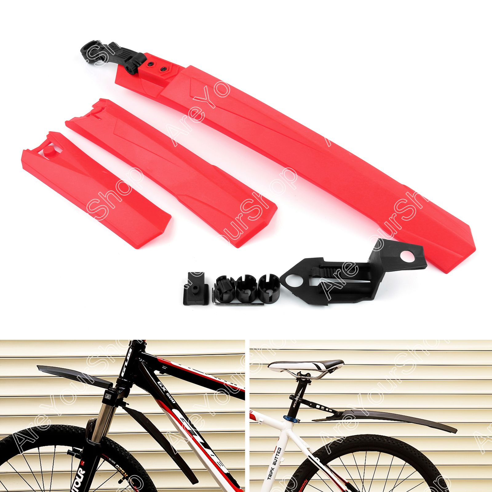 Achterspatbord Mountainbike Cycling Mountain Bicycle Bike Front Rear Mud Guards