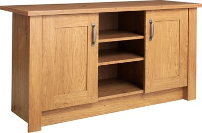 Buy Collection Ohio 2 Door Tv Unit Low Sideboard Oak - Tv Sideboard