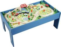 Buy Chad Valley Wooden Table and 90 Piece Train Set at ...