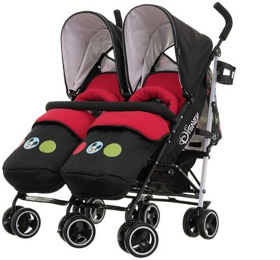 Double Buggies Argos Buy Disney Twin Stroller Footmuffs Mickey Circles At