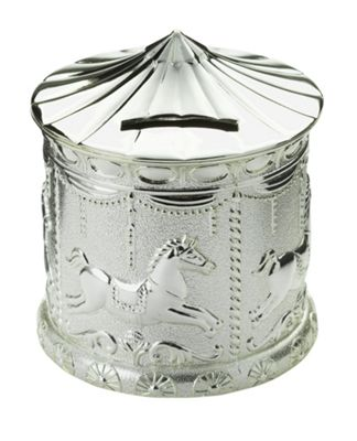 Buy Little Star Silver Plated Carousel Money Bank At Argos
